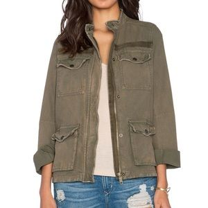 Free people rumpled army green jacket Small